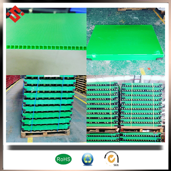 pp corflute sheet use for bottle storage as pallet layer pad