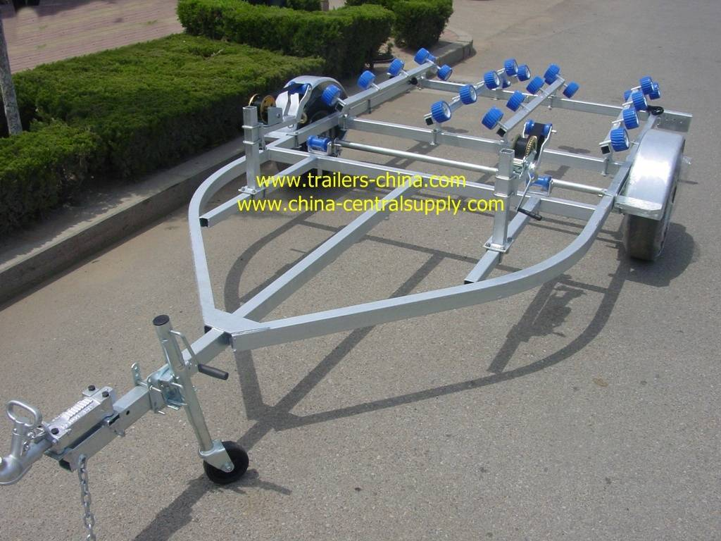4.6m double jet ski trailer with roller system