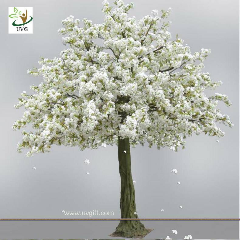 UVG CHR125 13ft white artificial cherry blossom tree with fiberglass trunk for wedding decoration