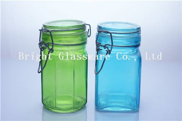 colorful glass jar, candy jar, storage container sale