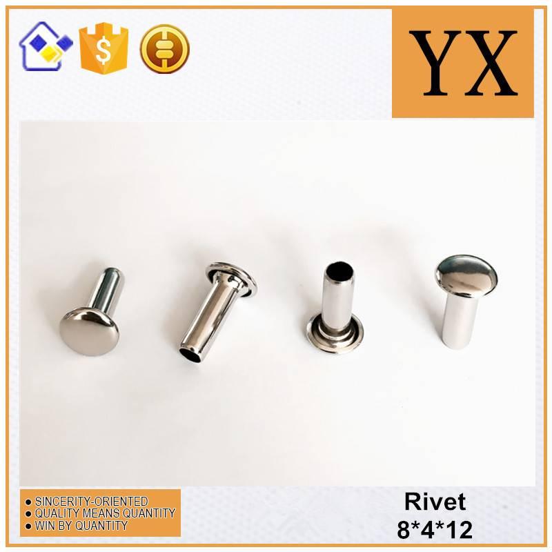 Youxin Hardware Bright Nickel Metal Hollow Rivet