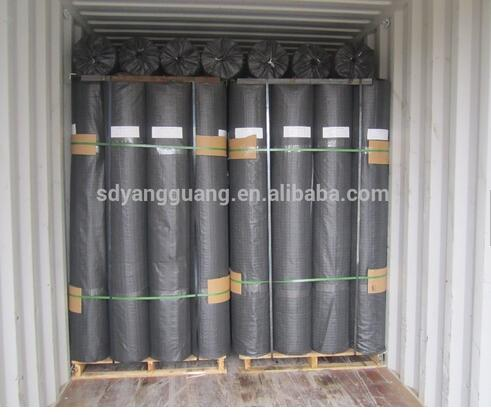 Woven fabric glass fiber geogrid for asphalt layers reinforcement and road extension factory supply