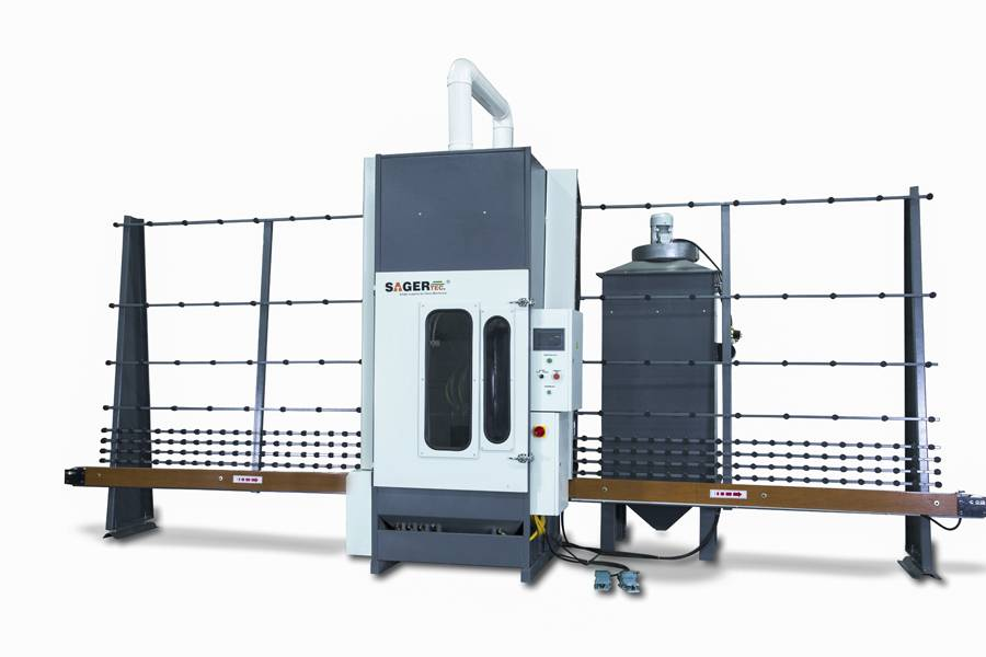 Full automatic glass sandblasting machine