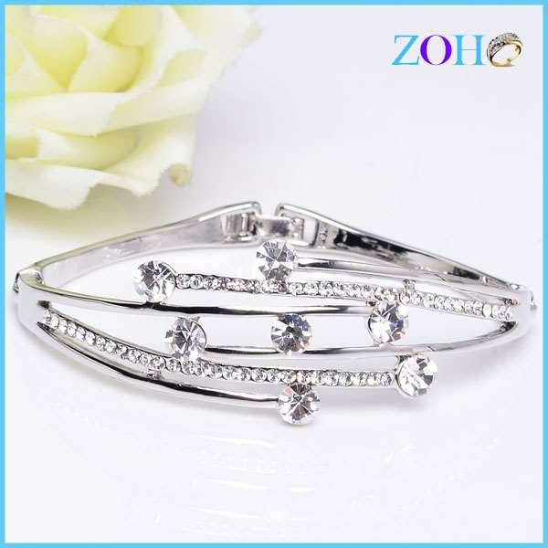 2016 new hot sale rhinestone bangles of fine jewelry vogue bangles products