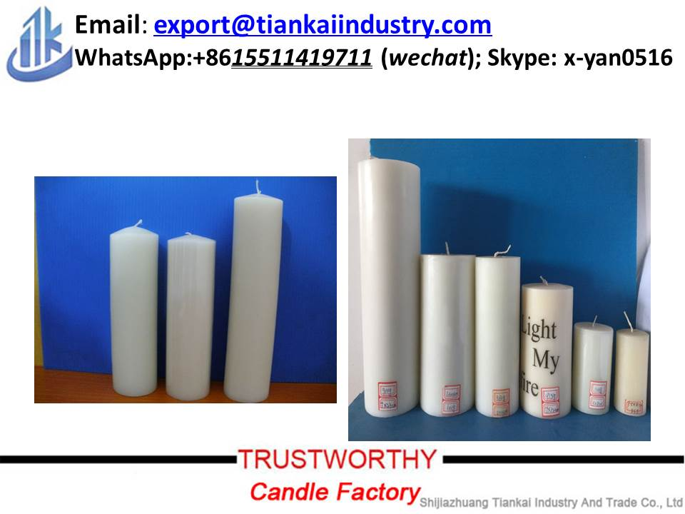 Decoration Flameless White Pillar Candle
