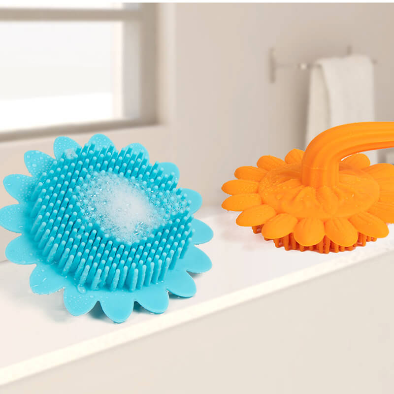 Non-toxic Soft Silicone Baby Bath Cleaning Brush
