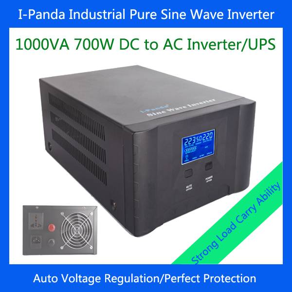 New 700W solar inverter with charger dc24v to ac pure sine wave power inverter with UPS AVR RS232 LC