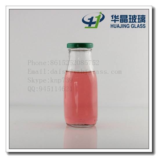 High quality customize beverage use 300ml 10oz glass bottle with lug metal lid wholesale
