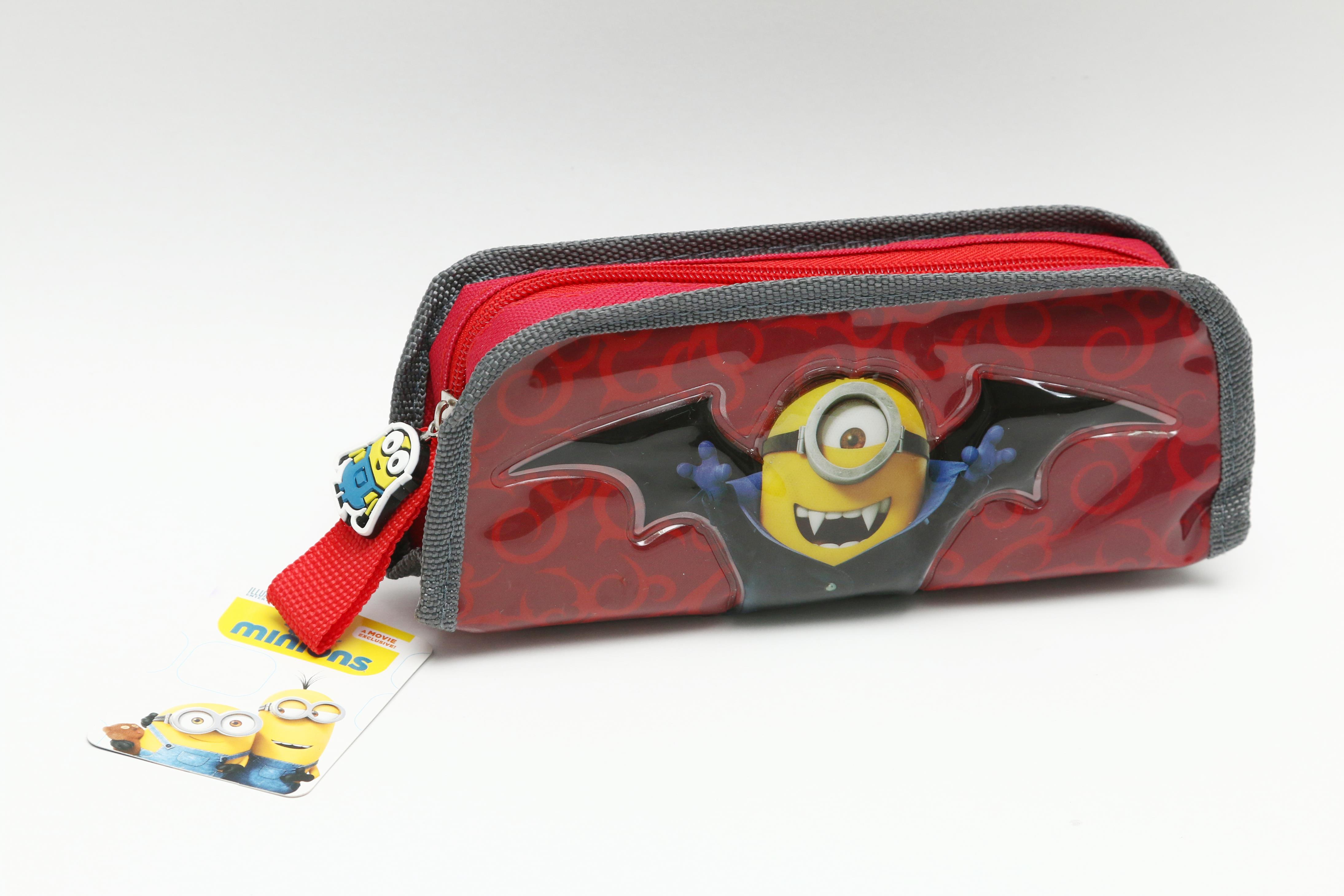 Minion pencil case with PVC hot press