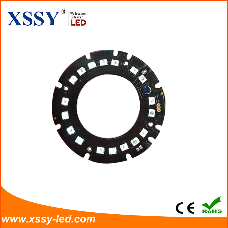 XSSY 18pcs Infrared SMD 2835 LED Module 850nm 14mil 59.5mm PCB Board Night Vision For CCTV Camera