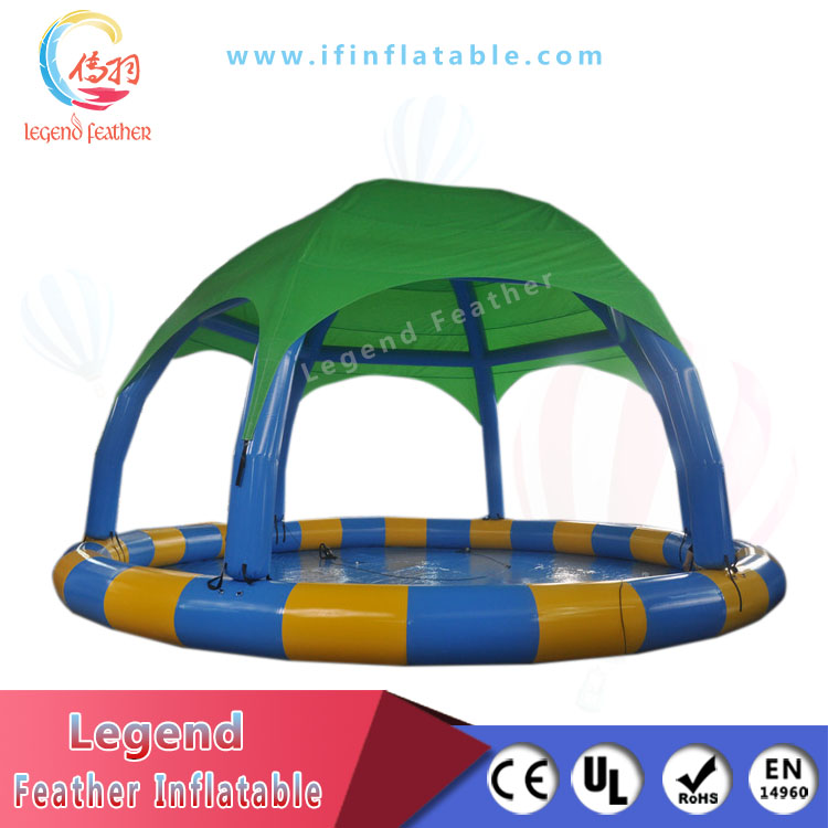 New Design PVC Inflatable water pool with tent cover
