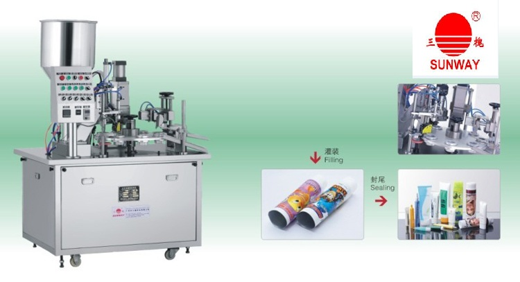 Cosmetic ToothpasteTube Filling&Sealing Machine