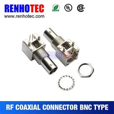 15.8mm Right Angle BNC Jack Connector For PCB Mount