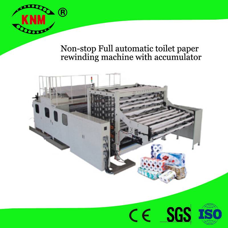 Non-stop Full automatic toilet paper rewinding machine to make toilet rolls