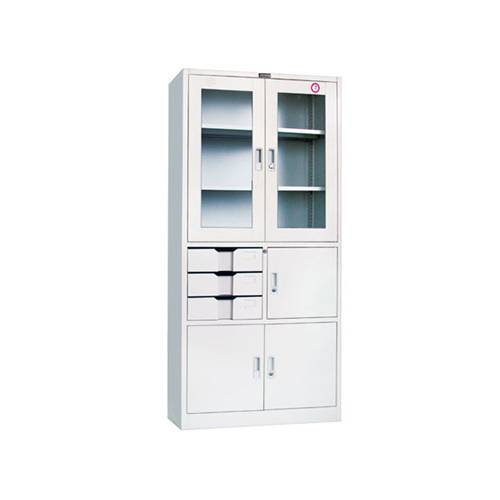 KD storage steel Filing Cabinet with Glass