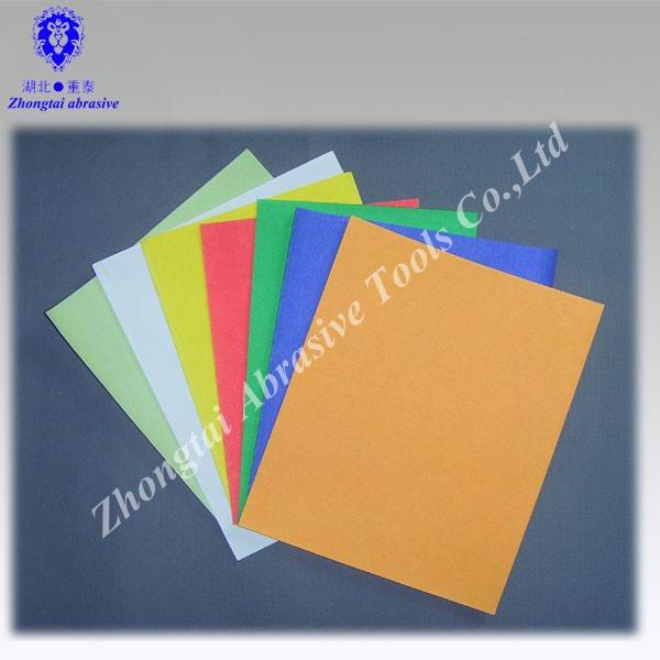 Color  wood  sand paper