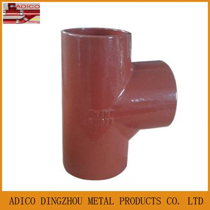 China supplier EN877 cast iron tee pipe fittings for drainage
