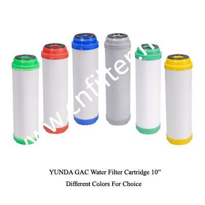 Granular activated carbon water filter cartridge