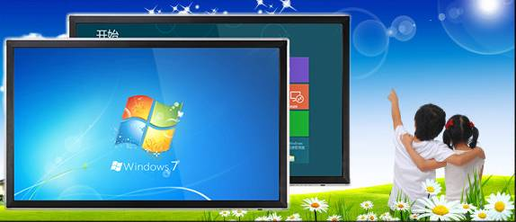 55 Inch cheap multi touch lcd touch screen all in one pc tv monitor with built in computer CPU i3 i5
