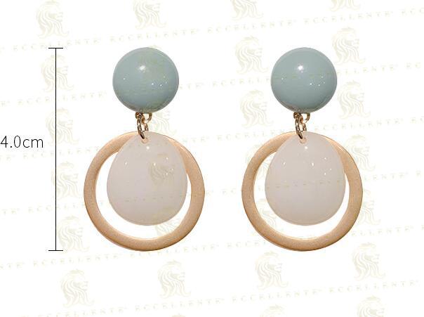 Morandi Color Design Original Stone Fairy Air French Elegant Earrings