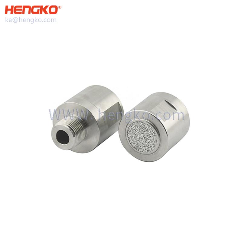 Sinter flame arrestors/Combustible gas leak detector - probe metal detector threaded protection cap