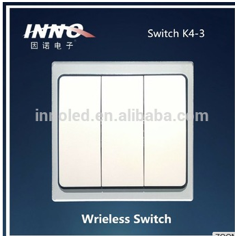 New Style 3- Gang Kinetic Energy Wireless Remote Control Light Switch
