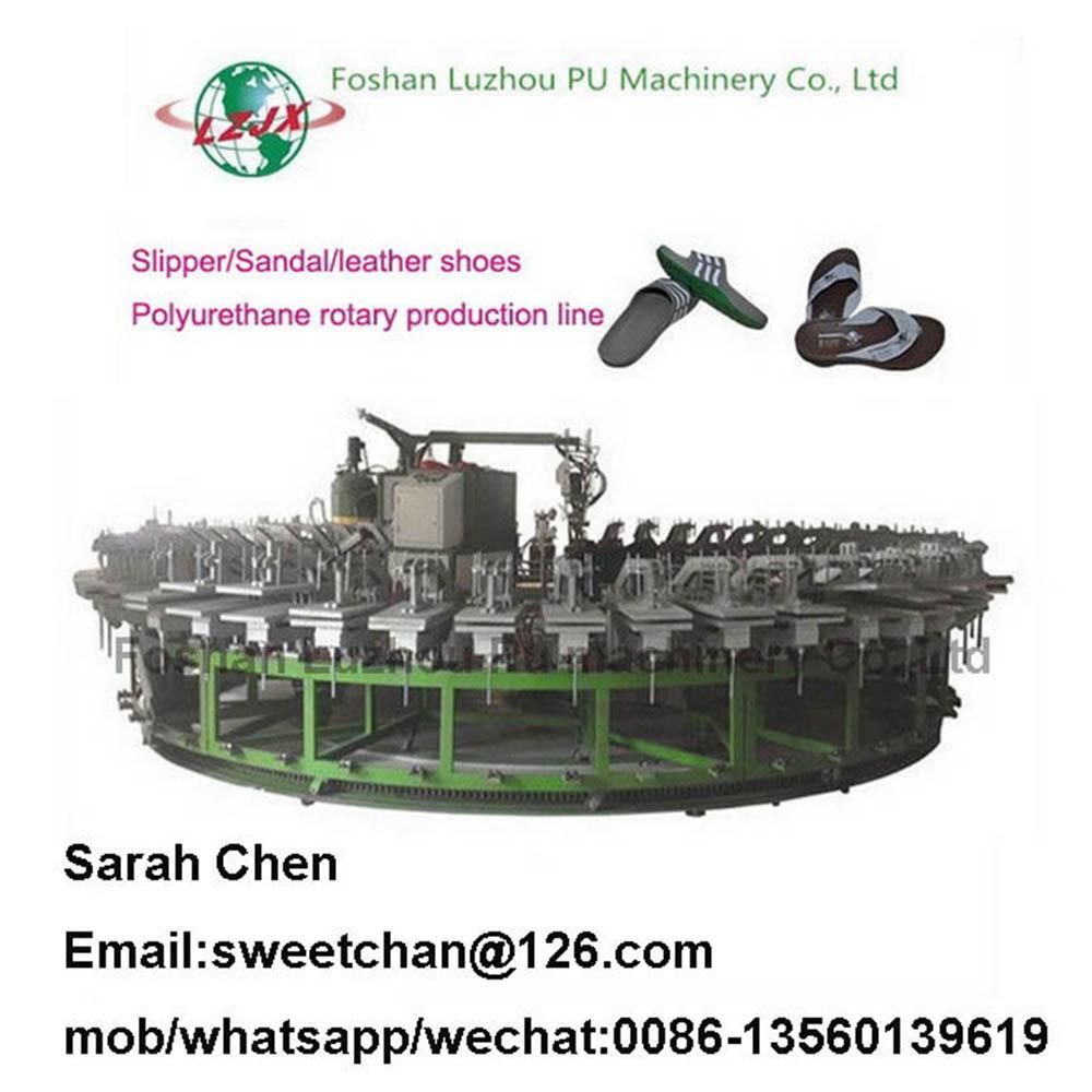 PU sandals shoes injection machine/sandal production line