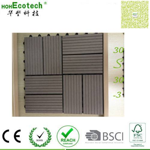Easy install outdoosnap together tiles no screws wood flooring rodent-free DIY WPC