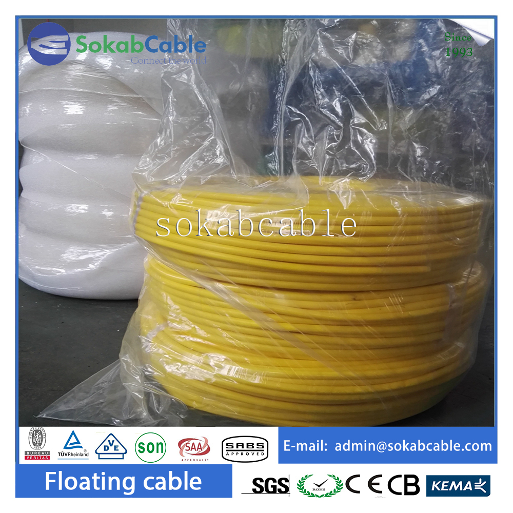 Flexible rov underwater umbilical cable with braided shielding