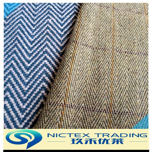 tweed herringbone wool fabric for coat