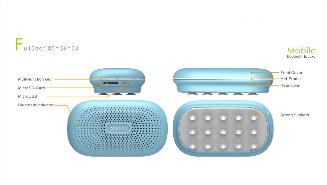 Adsorbable Bluetooth Speaker B850