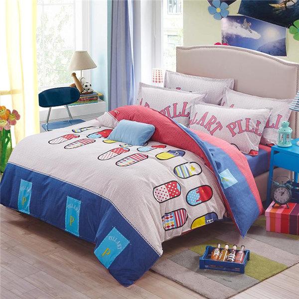 China manufacturer printed comforter home use duvetcover pattern bedding set