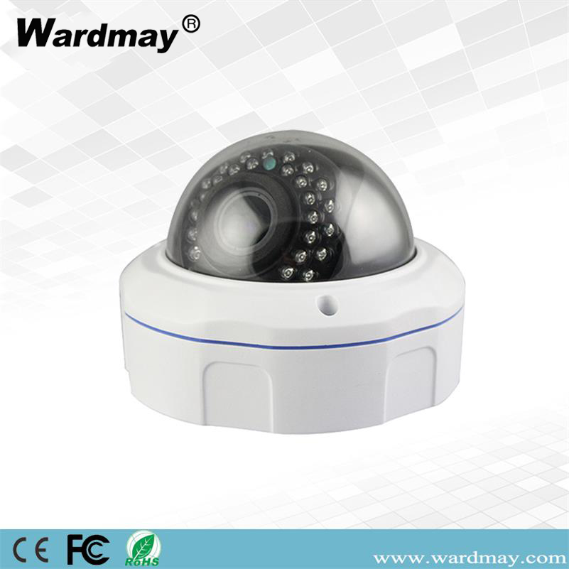 5.0MP HD WDR 2.8-12mm Manual Vandal Proof Outdoor IR H. 265 Dome IP Camera