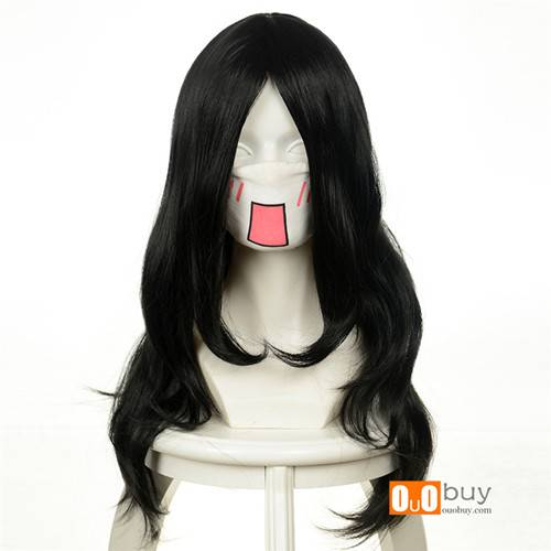 Beelzebub Aoi Kunieda Byakuya Kuchiki Black Curly Cosply Wig