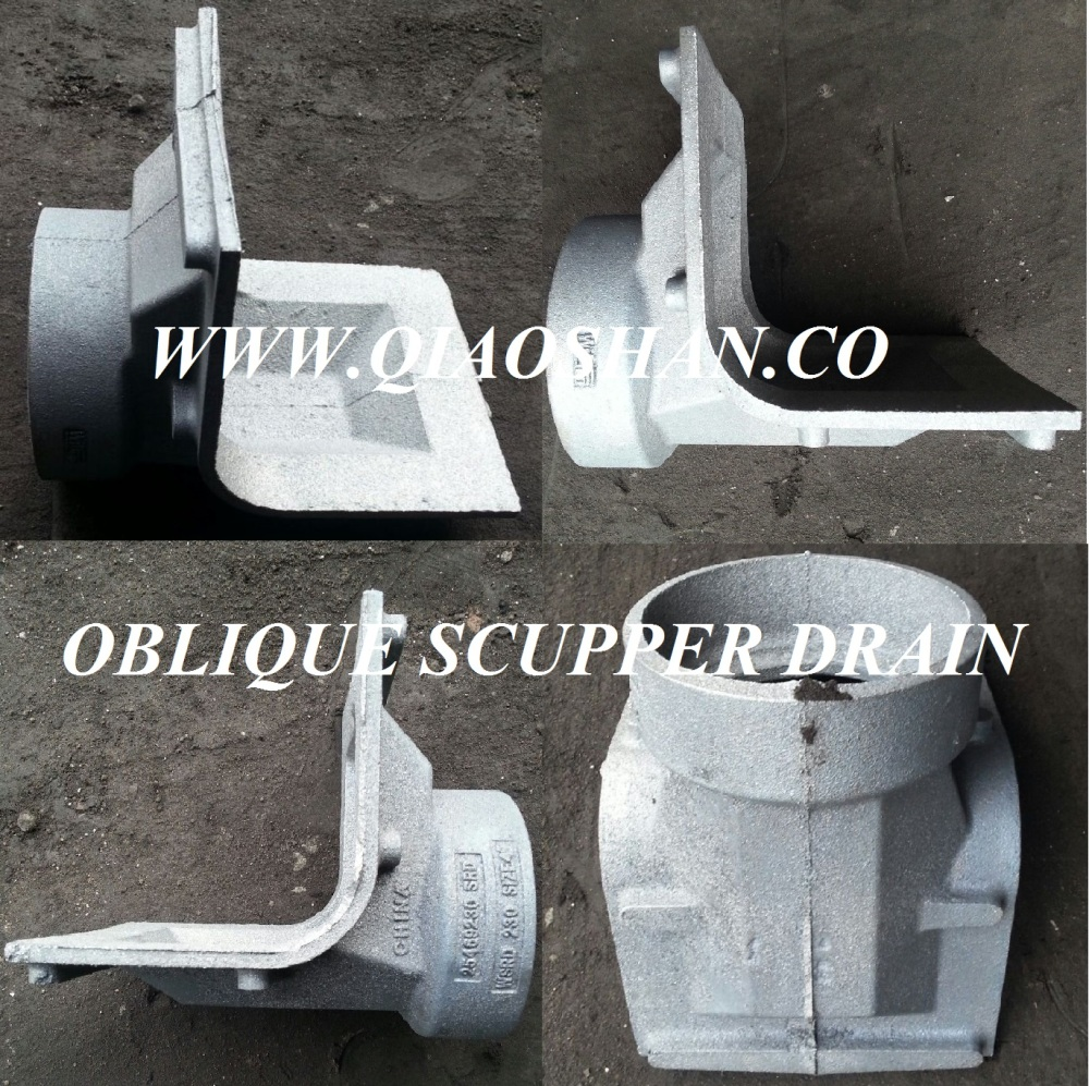 Z187 Series Oblique Scupper Drain Cast Iron Body for Roof Drainage