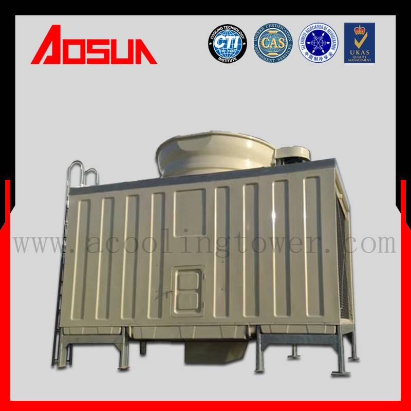150T FRP Industrial Square Water Cross Flow Cooling Tower Treatment