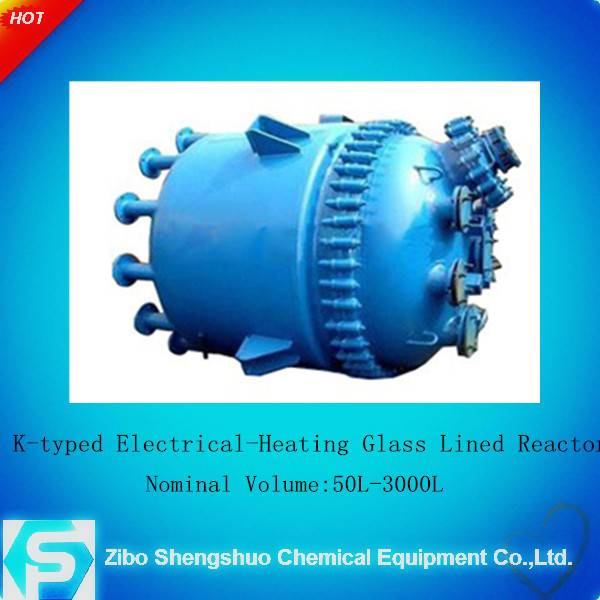 High quanlity perssure vessel K type glass lined Electical-heating reactor((Industrial Enamel)) for