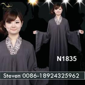 Gray Cotton Long Sleeve Floor Length Home Abaya Cheap Price