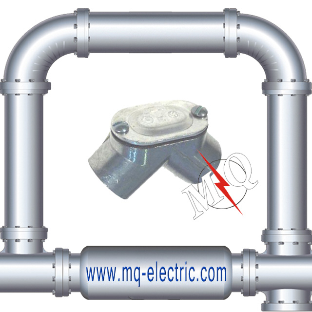 Zinc Electrical Pull Elbow Set Screw Type EMT Connector