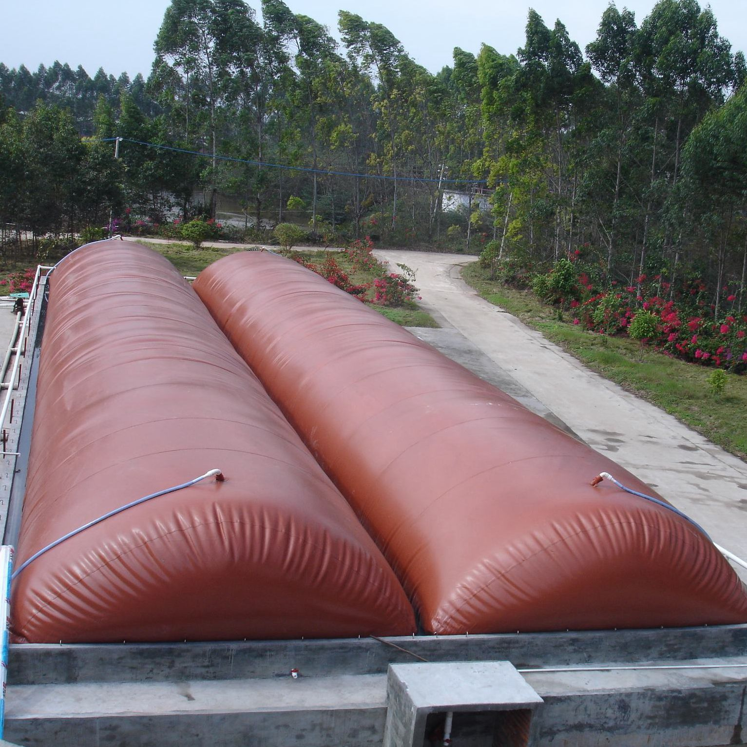 Mini PVC soft material home biogas plant
