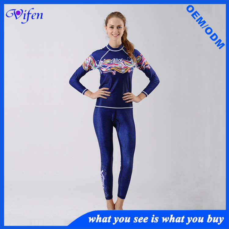 women diving suits surfing prevent jellyfish snorkeling suit with fashion pattern design wholesale