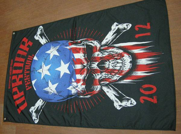 nylon double sided printing flag