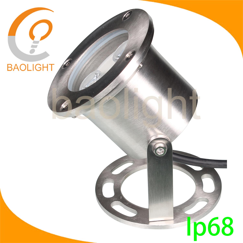12v 3w IP68 Chinese supplier Stainless Steel LED Underwater fountain spot Light lighting for Pool