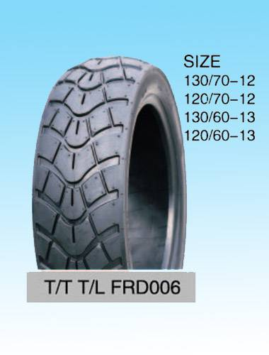 Motorcycle tubeless tyre 130/60-13