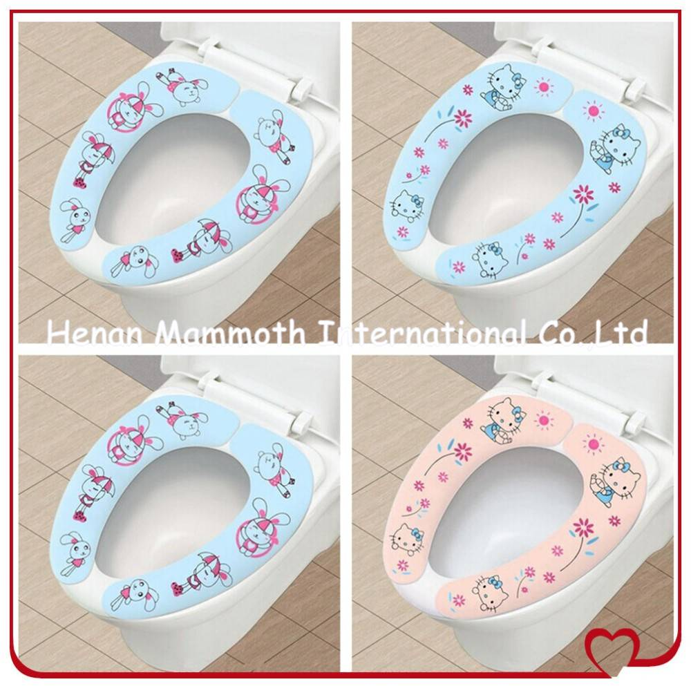 health washable self-adhesive toilet cover /toilet pad