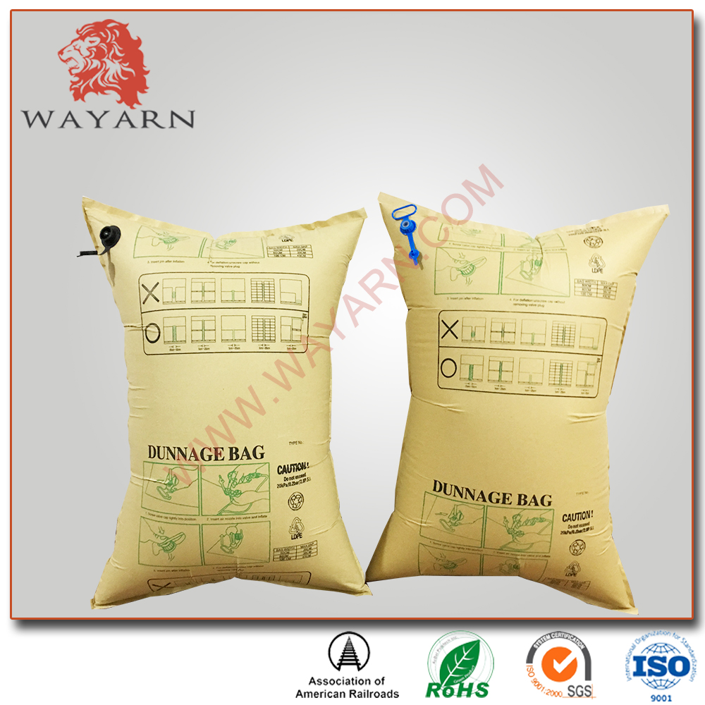High strength air dunnage bag for container packing