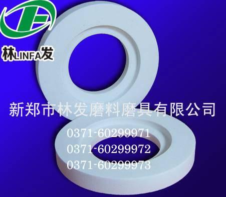 White corundum abrasive polishing wheel
