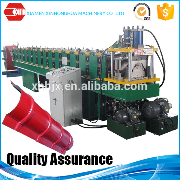 Building materials machinery metal roof ridge cap making machine