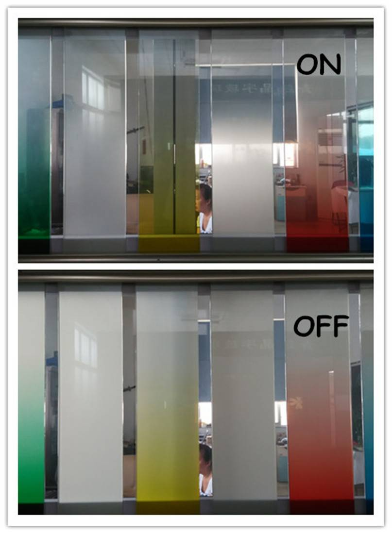 Acid etched decorative Frosted glass