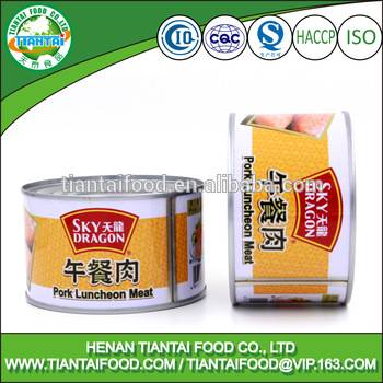 China manufacturer wholesale canned luncheon meat